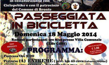 BRONTE: DOMENICA PASSEGGIATA IN BICICLETTA