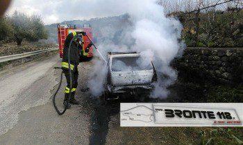 BRONTE: AUTO A GAS IN FIAMME, EVITATO IL PEGGIO – LE FOTO