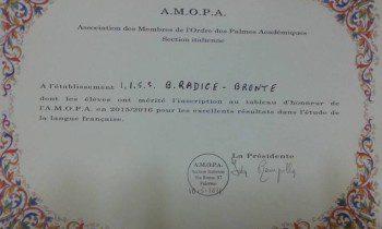"""BRONTE: IL """"BENEDETTO RADICE"""" NELL'ALBO D'ORO DELL'AMOPA – LE FOTO"""