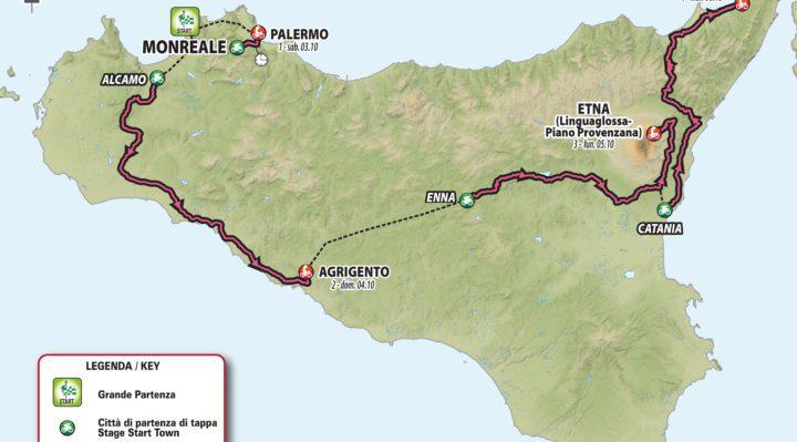 CICLISMO: IL GIRO D'ITALIA RIPARTE DALLA SICILIA, 4 TAPPE DAL 3 AL 6 OTTOBRE