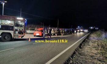 BRONTE: INCIDENTE IN CONTRADA DIFESA, FERITI LIEVI – LE FOTO