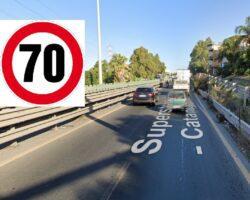 MISTERBIANCO: PROSSIMAMENTE LIMITE VERSO PATERNO' INNALZATO A 70 KMH, MA PER ORA RESTA A 50 KMH