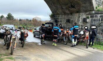 CONTROLLI DEI CARABINIERI NEI PARCHI, MULTATI MOTOCICLISTI